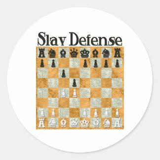 Slav Defense Round Sticker