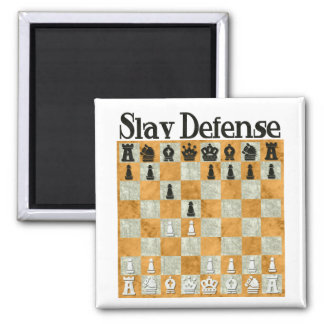 Slav Defense Square Magnet