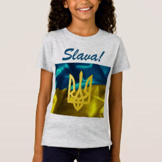 Slava! Ukraine Flag & Tryzub Kids Jersey Shirt