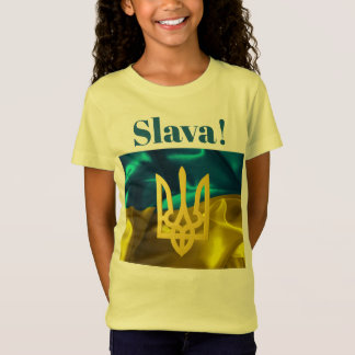 Slava! Ukraine Flag & Tryzub Kids Shirt