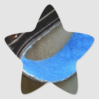 SLAVE COLLAR STAR STICKER