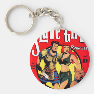Slave Girl comics no.2 Basic Round Button Key Ring