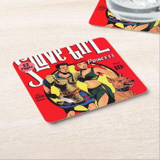 Slave Girl comics no.2 Square Paper Coaster
