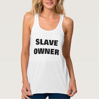 SLAVE OWNER FLOWY RACERBACK TANK TOP
