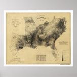 Slave Population Map 1861 Print