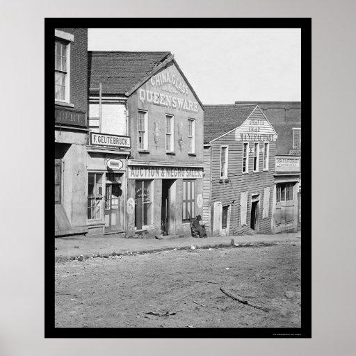 Slave Sales on Whitehall Street in Atlanta 1864 Poster