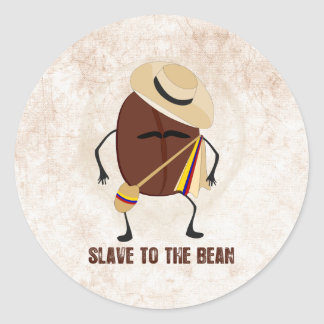 Slave To The Bean Classic Round Sticker