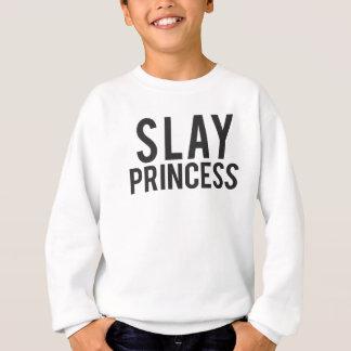 Slay Princess Black Print Sweatshirt