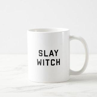 Slay Witch Halloween Basic White Mug