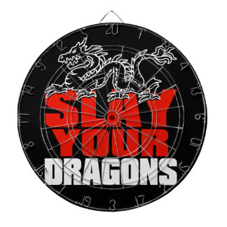 SLAY YOUR DRAGONS, gift for Jordan Peterson fans Dartboard