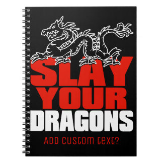 SLAY YOUR DRAGONS, gift for Jordan Peterson fans Notebooks