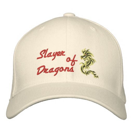 Slayer of Dragons Embroidered Hat