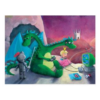 Slaying the dragon (It's hard) Post Card