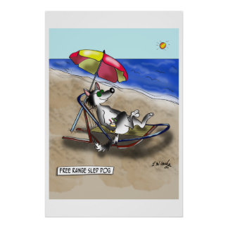 Sled Dog Cartoon 9381 Poster
