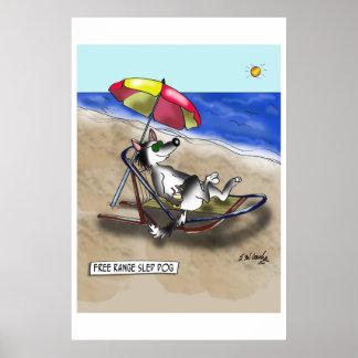 Sled Dog Cartoon 9381 Poster