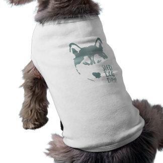 sled dog day sleeveless dog shirt