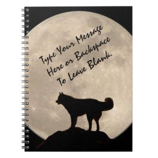 Sled Dog Notebook Personalized Husky Journal Book