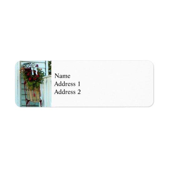 Sled on Porch Return Address Label