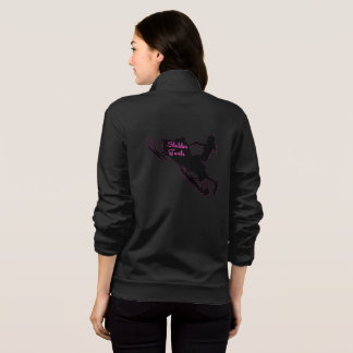 Sledder Gurlz basic black zip jogger hoodie