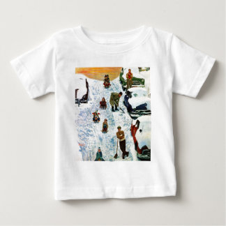 Sledding and Digging Out Baby T-Shirt