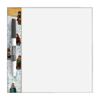 Sledding and Digging Out Dry Erase Whiteboard