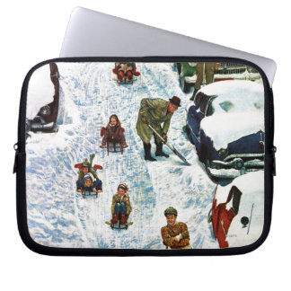 Sledding and Digging Out Laptop Sleeve