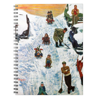 Sledding and Digging Out Note Book