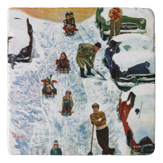 Sledding and Digging Out Trivets
