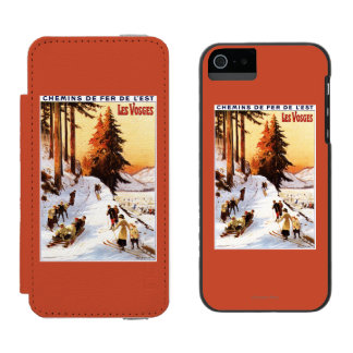 Sledding and Skiing at Vosges Poster Incipio Watson™ iPhone 5 Wallet Case