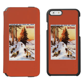 Sledding and Skiing at Vosges Poster Incipio Watson™ iPhone 6 Wallet Case