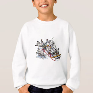Sledding Dalmatian Pups Sweatshirt