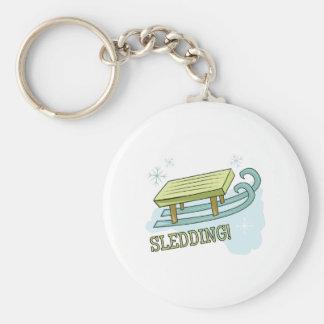 Sledding Key Chains