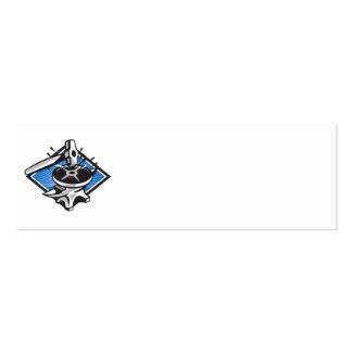 Sledgehammer Striking 45lb Weight Anvil Retro Business Card Templates