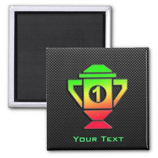 Sleek 1st Place Trophy Square Magnet