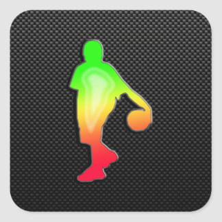 Sleek Basketball Square Sticker