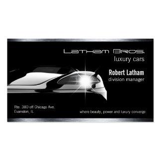 sleek black luxury car business car business card