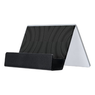 Sleek Black Minimalist Business Card Holder Desk Business Card Holder