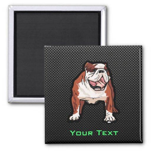 Sleek Bulldog Fridge Magnet