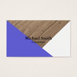 Sleek Carpentry Business Cards