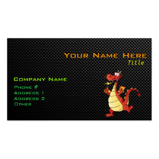 Sleek Cartoon Dragon Double-Sided Standard Business Cards (Pack Of 100)