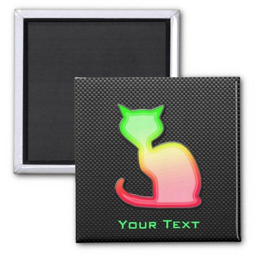 Sleek Cat Fridge Magnet
