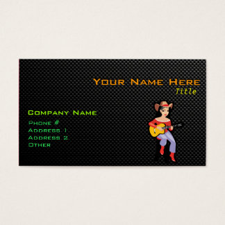 Sleek Cowgirl with Guitar Business Card