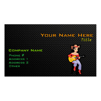 Sleek Cowgirl with Guitar Pack Of Standard Business Cards