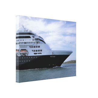 Sleek Cruise Ship Bow Canvas Print
