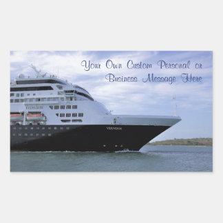 Sleek Cruise Ship Bow Custom Rectangular Sticker