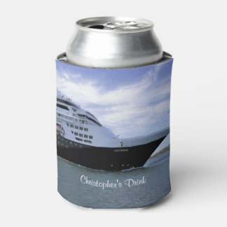 Sleek Cruise Ship Bow Personalized Can Cooler