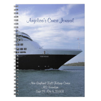 Sleek Cruise Ship Bow Personalized Cruise Journal