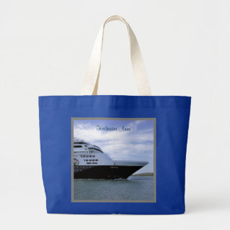 Sleek Cruise Ship Bow Personalized Large Tote Bag
