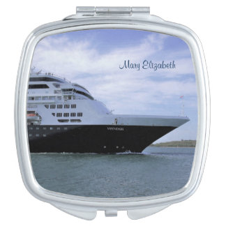 Sleek Cruise Ship Bow Personalized Travel Mirror