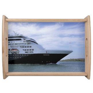 Sleek Cruise Ship Bow Serving Tray